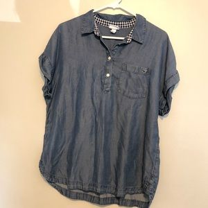 Vineyard Vines Short-Sleeve Chambray Popover Shirt